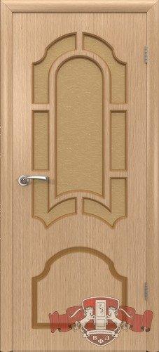 Дверь межкомнатная, 3ДР1 светлый дуб