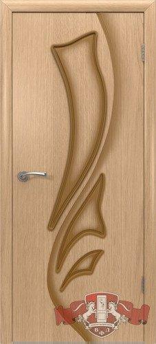 Дверь межкомнатная, 5ДГ1 дуб светлый