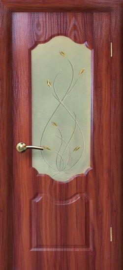 Межкомнатная дверь Канадка ДО Темный орех