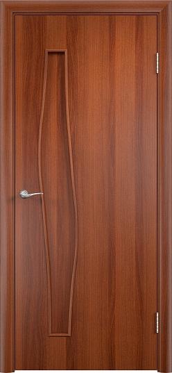 Межкомнатная дверь ПГ-015 Волна Итальянский орех