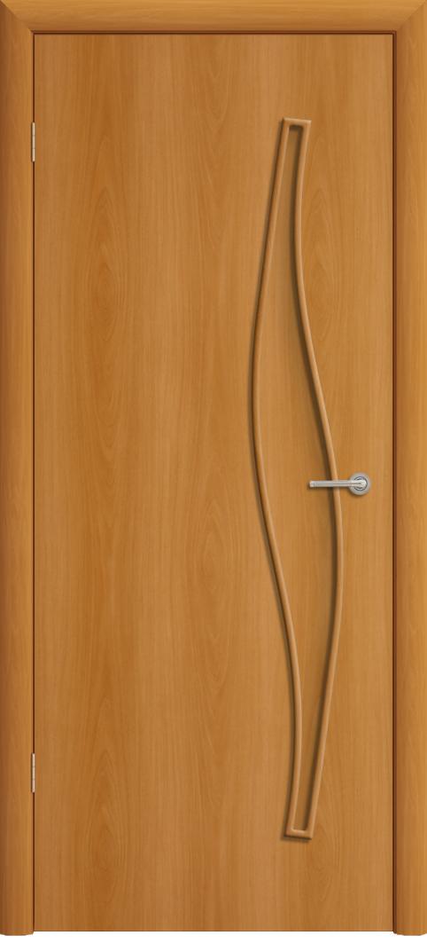 Межкомнатная дверь ПГ-015 Волна Миланский орех