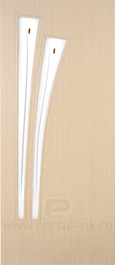 Межкомнатная дверь ПО-011(Ф) Беленый дуб