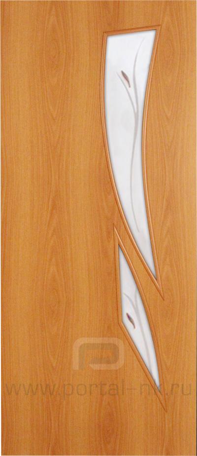 Межкомнатная дверь ПО-012(Ф) Миланский орех