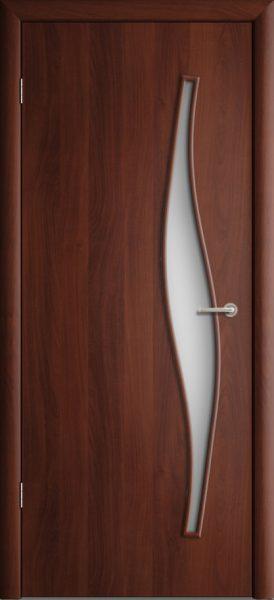 Межкомнатная дверь ПО-015 Волна Итальянский орех