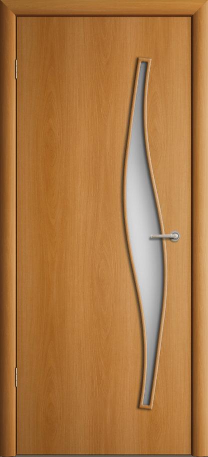 Межкомнатная дверь ПО-015 Волна Миланский орех