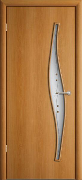 Межкомнатная дверь ПО-015 (ф) Волна Миланский Орех