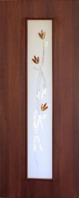 Межкомнатная дверь ПО-02 (ф) Ветка Итальянский орех