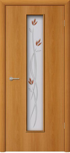 Межкомнатная дверь ПО-02 (ф) Ветка Миланский орех