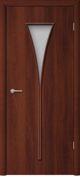 Межкомнатная дверь ПО-08 Рюмка Итальянский орех