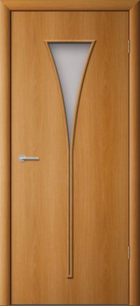 Межкомнатная дверь ПО-08 Рюмка Миланский орех