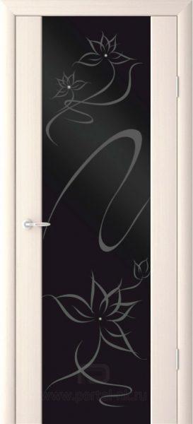 Межкомнатная дверь Симфония (сваровски) ДО Беленый дуб