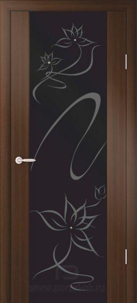 Межкомнатная дверь Симфония (сваровски) ДО Венге