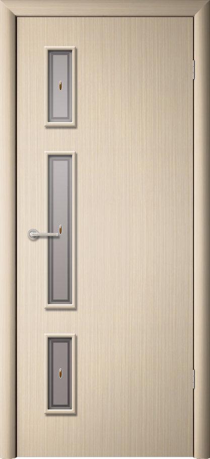 Межкомнатная дверь Вертикаль ДО Беленый дуб