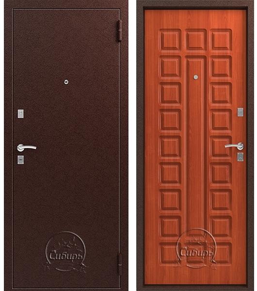 Входная дверь S 2 Медь Итальянский орех