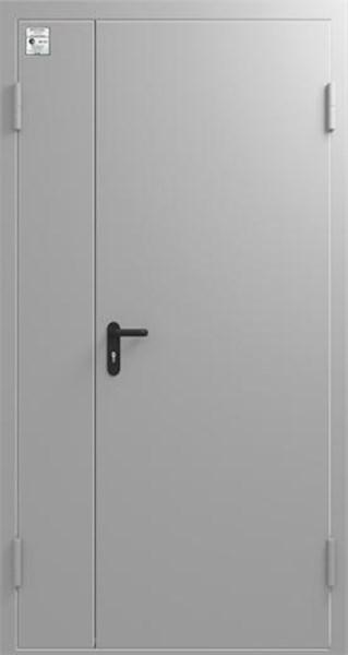 Стальная противопожарная дверь S 3 ДМП (EI-60) широкая