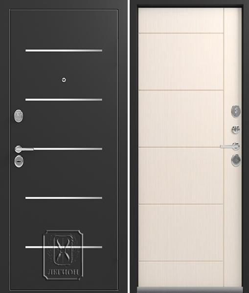 Входная дверь Легион L-2 Чёрный шёлк Каньон
