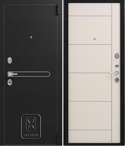 Входная дверь Легион L-31 Черный муар Лиственница светлая