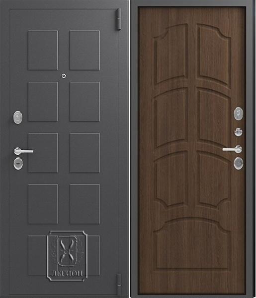 Входная дверь Легион L-5 Серый шёлк Миндаль