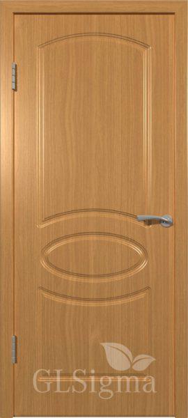 Межкомнатная дверь ВФД GLSigma 101 (Неаполь) Миланский орех