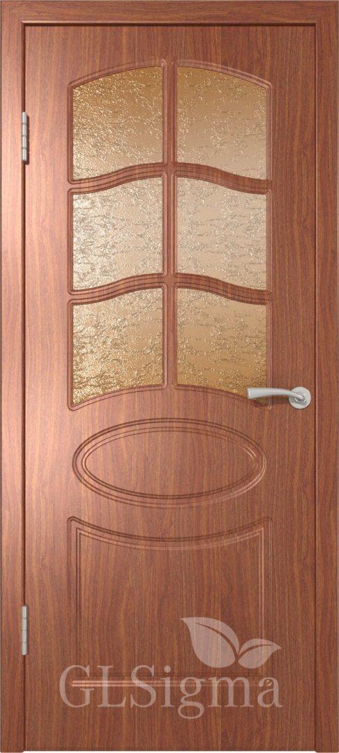 Межкомнатная дверь ВФД GLSigma 102 (Неаполь) Итальянский орех