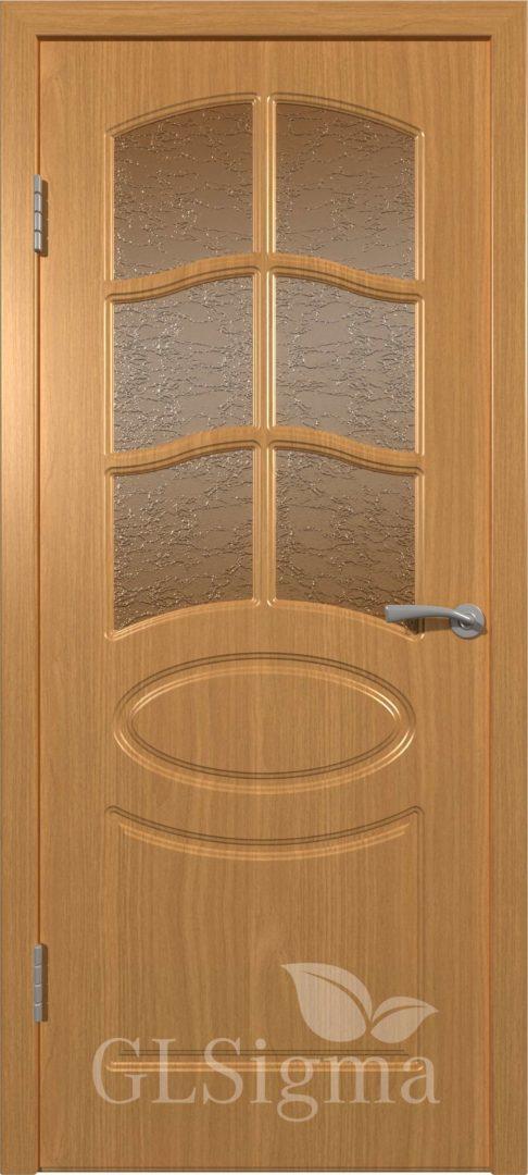 Межкомнатная дверь ВФД GLSigma 102 (Неаполь) Миланский орех
