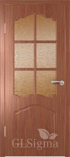 Межкомнатная дверь ВФД GLSigma 32 (Лидия) Итальянский орех