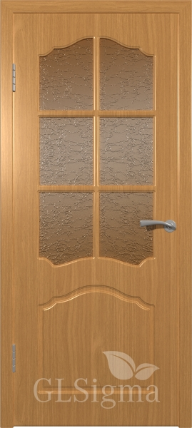 Межкомнатная дверь ВФД GLSigma 32 (Лидия) Миланский орех