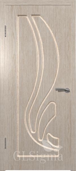 Межкомнатная дверь ВФД GLSigma 81 (Лотос) Белёный дуб