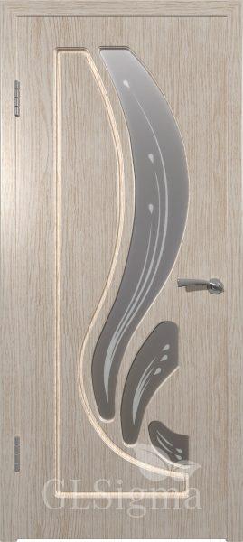 Межкомнатная дверь ВФД GLSigma 82 (Лотос) Белёный дуб