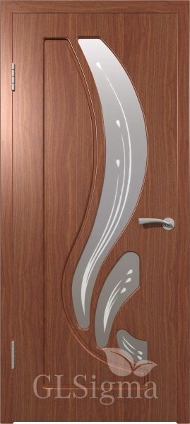 Межкомнатная дверь ВФД GLSigma 88 (Лотос) Итальянский орех