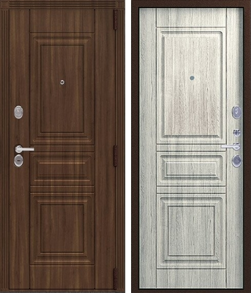 Входная дверь Легион L-4 Медный муар Полярный дуб