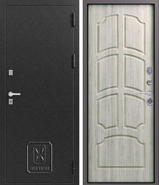 Входная дверь Легион T-2 Чёрный муар Дуб полярный
