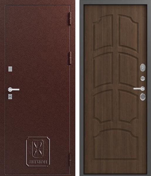 Входная дверь Легион Т-2 Медь Миндаль