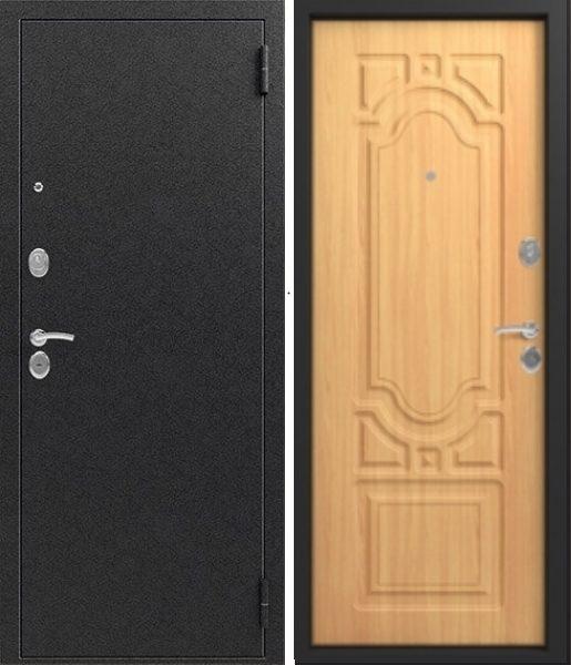 Входная дверь Сибирь S 7 Чёрный шелк Миланский орех