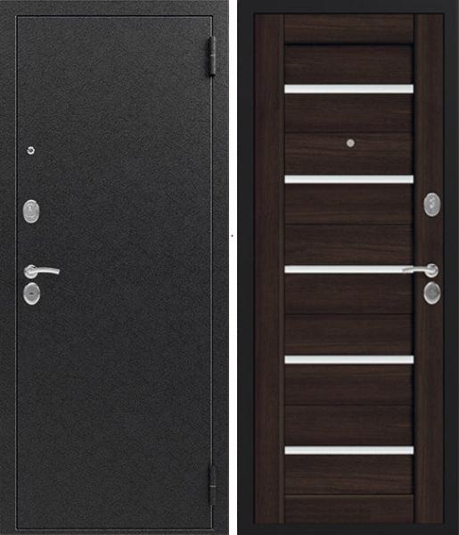 Входная дверь Сибирь S 7 Чёрный шелк Венге шоколад